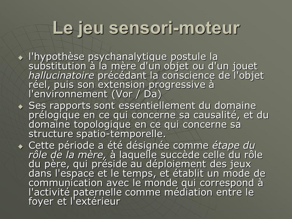 Le jeu sensori-moteur