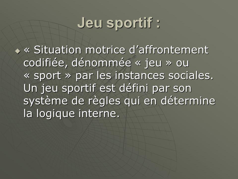 Jeu sportif :