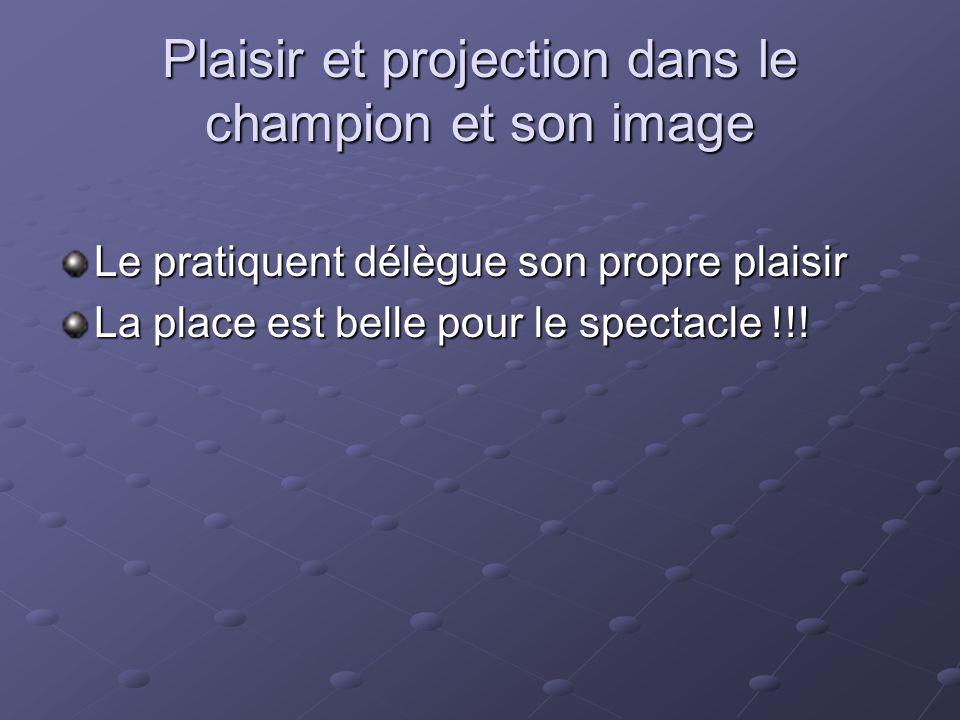 Plaisir et projection dans le champion et son image