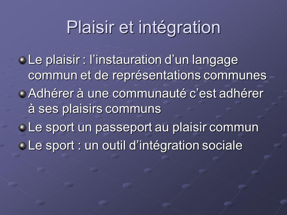 Plaisir et intégration