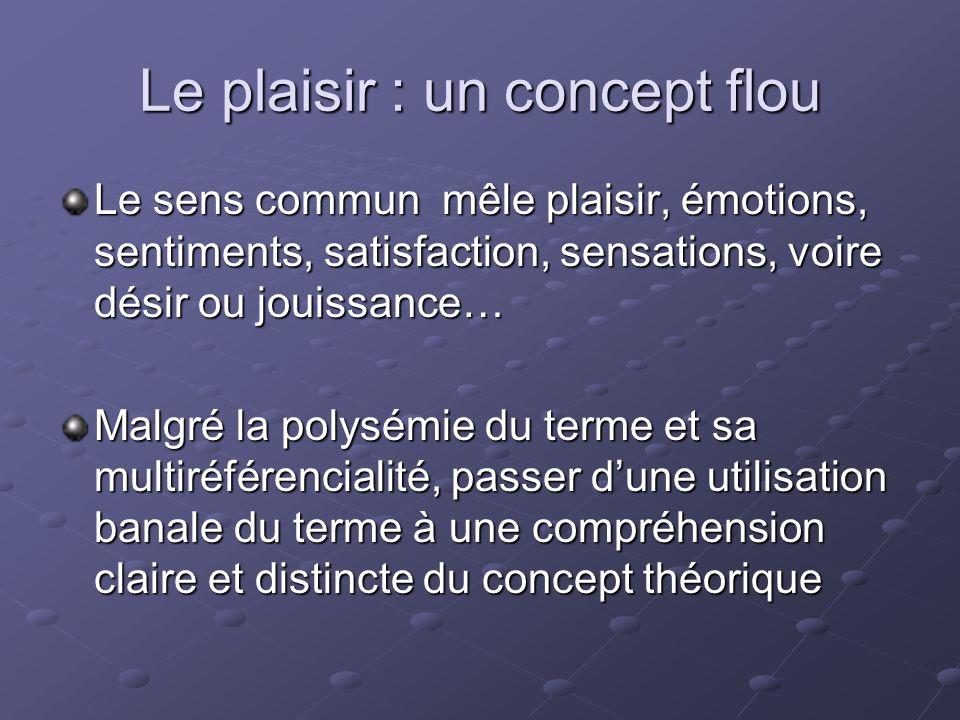 Le plaisir : un concept flou