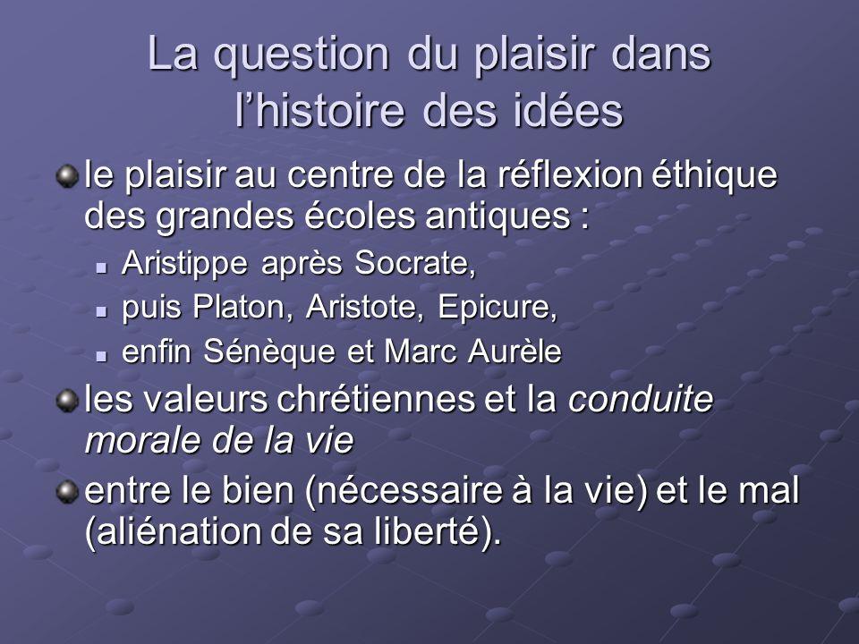 La question du plaisir dans l'histoire des idées