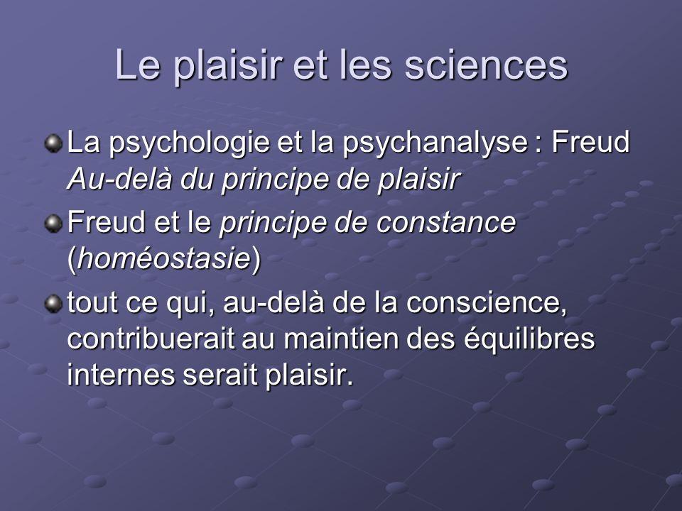 Le plaisir et les sciences