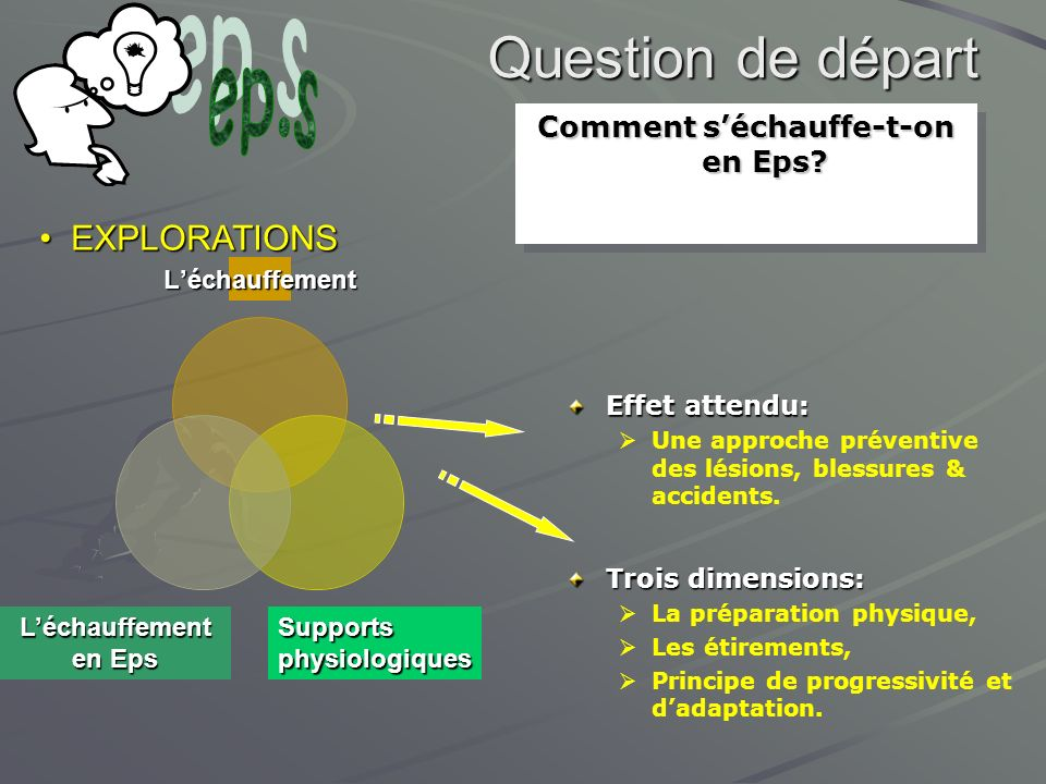 Comment s'échauffe-t-on en Eps