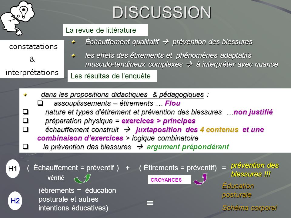 DISCUSSION = La revue de littérature