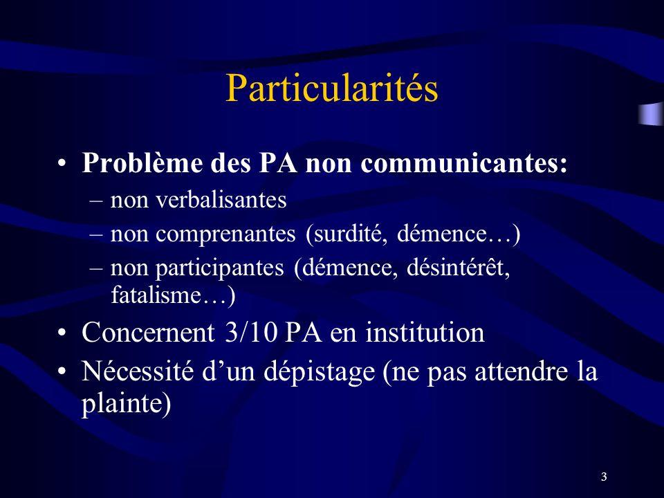 Particularités Problème des PA non communicantes: