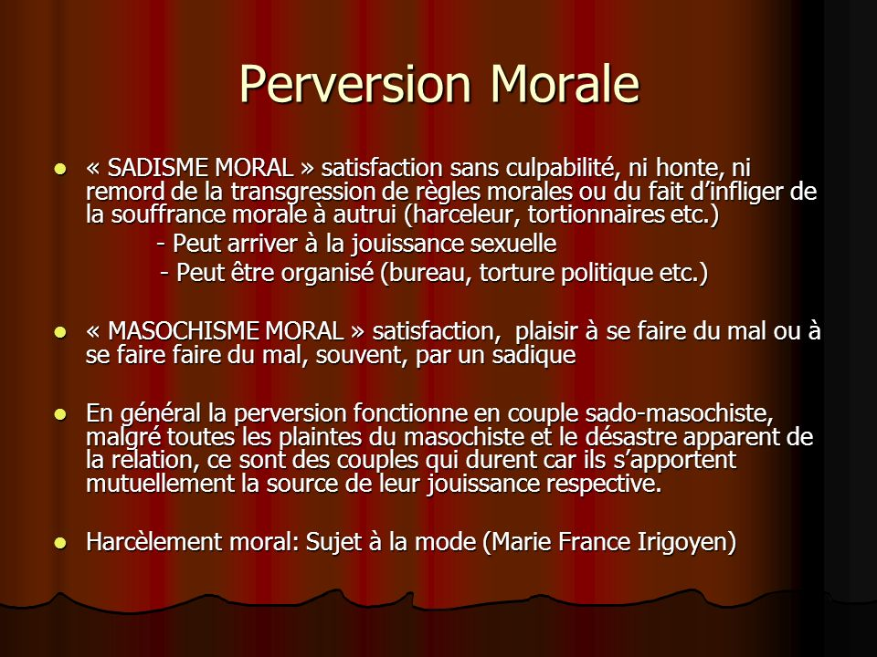 Perversion Morale