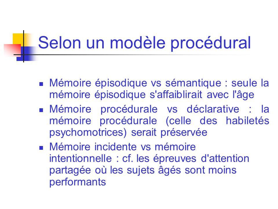 Selon un modèle procédural