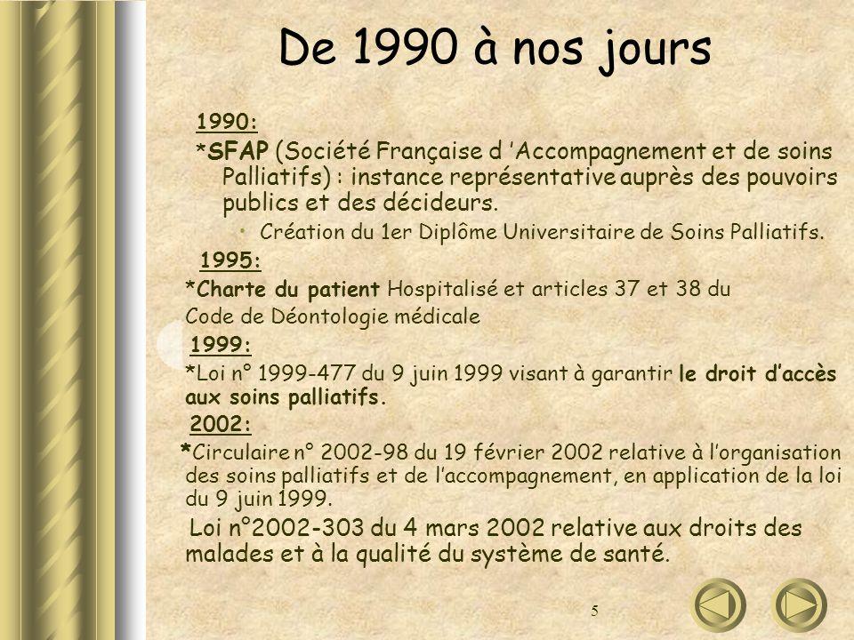 De 1990 à nos jours 1990: