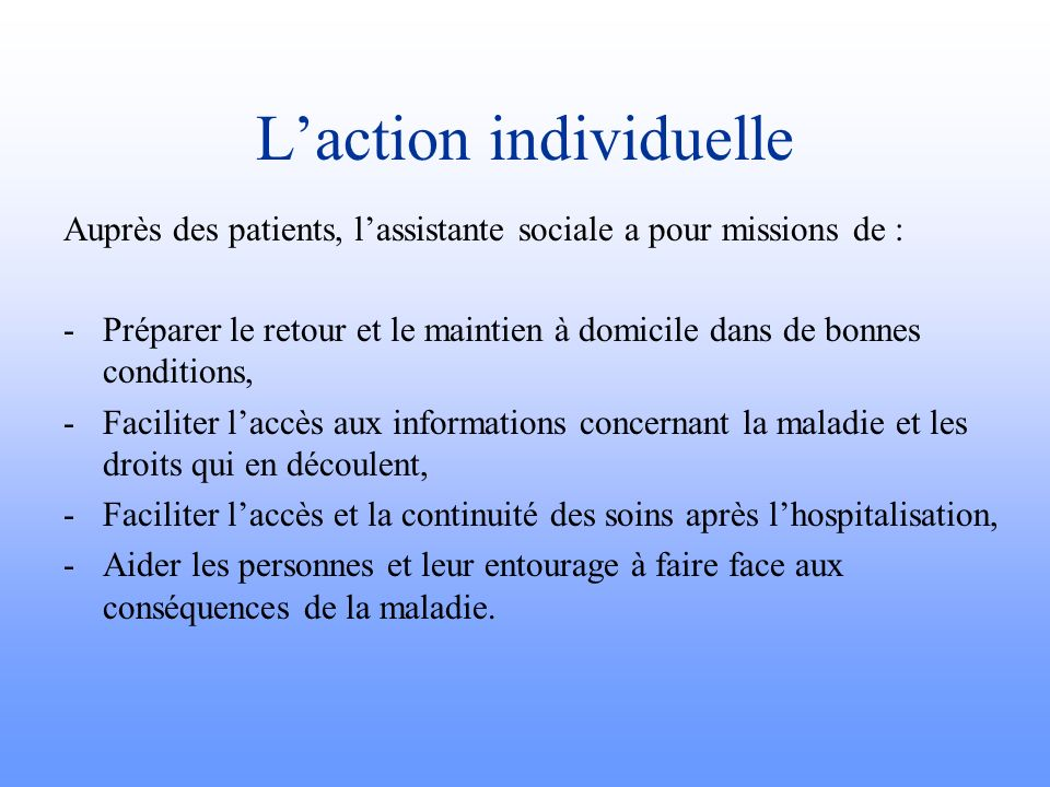 L'action individuelle