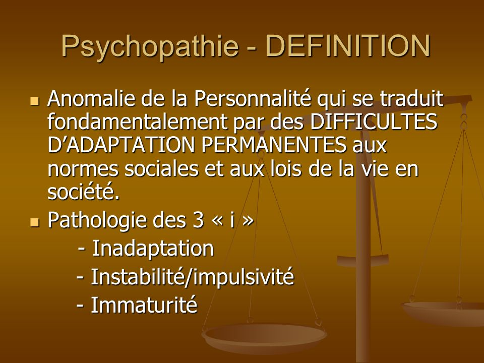 Psychopathie - DEFINITION