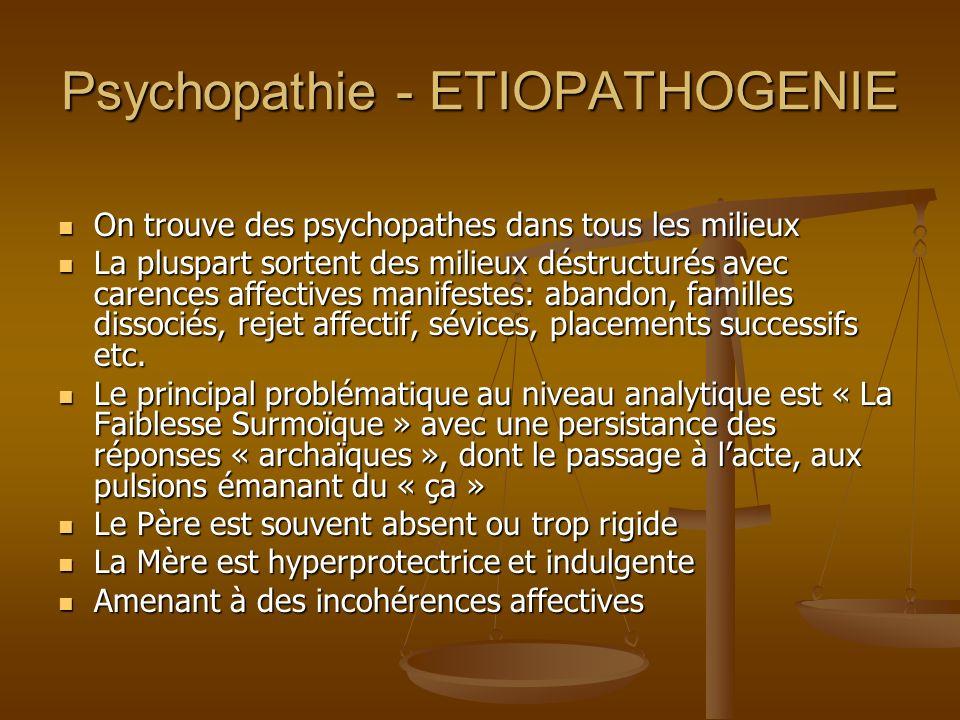 Psychopathie - ETIOPATHOGENIE