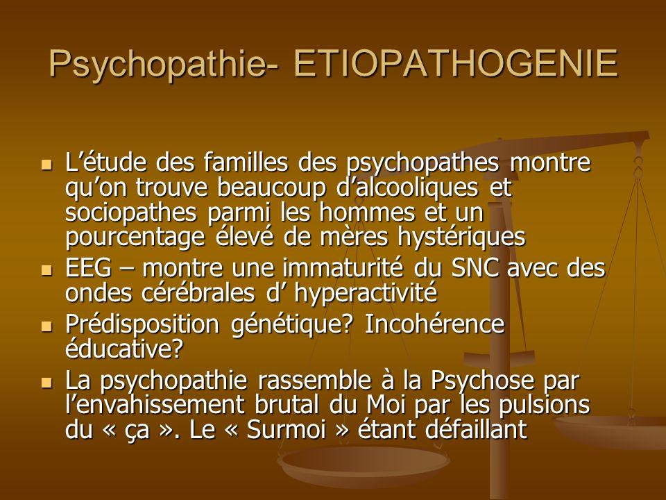 Psychopathie- ETIOPATHOGENIE