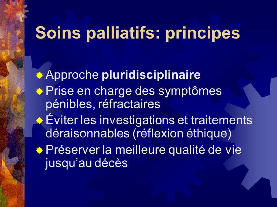 Soins palliatifs: principes
