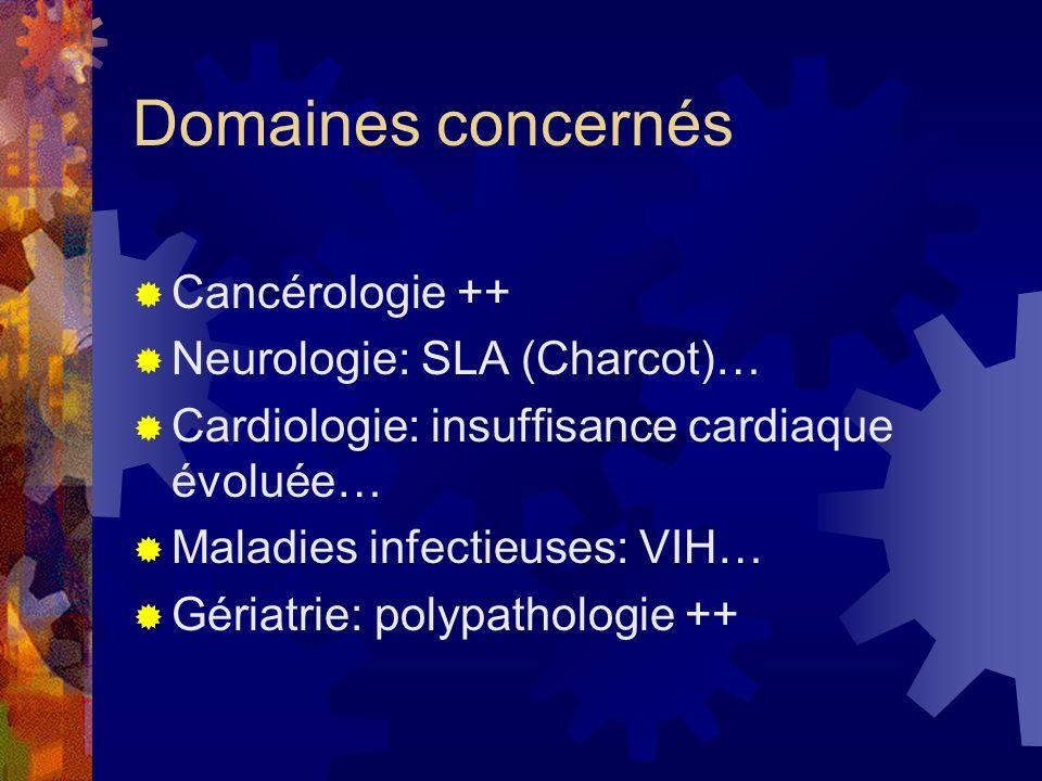 Domaines concernés Cancérologie ++ Neurologie: SLA (Charcot)…