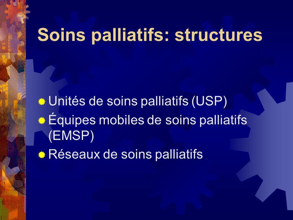 Soins palliatifs: structures