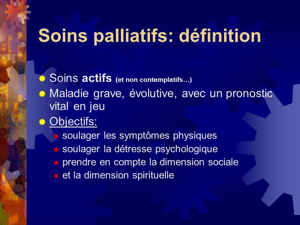 Soins palliatifs: définition