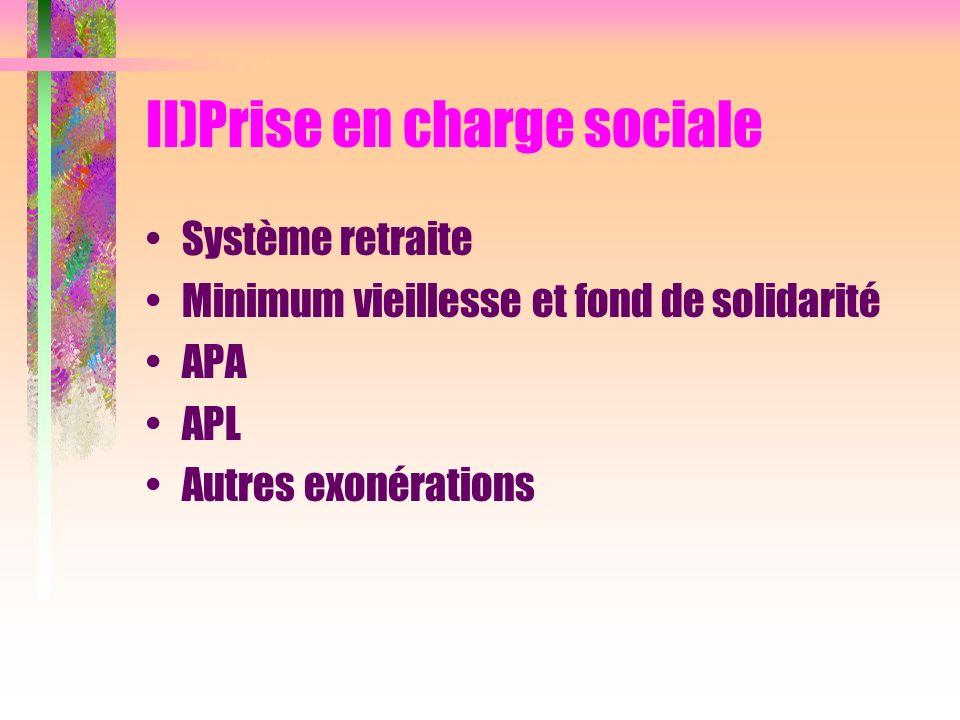 II)Prise en charge sociale
