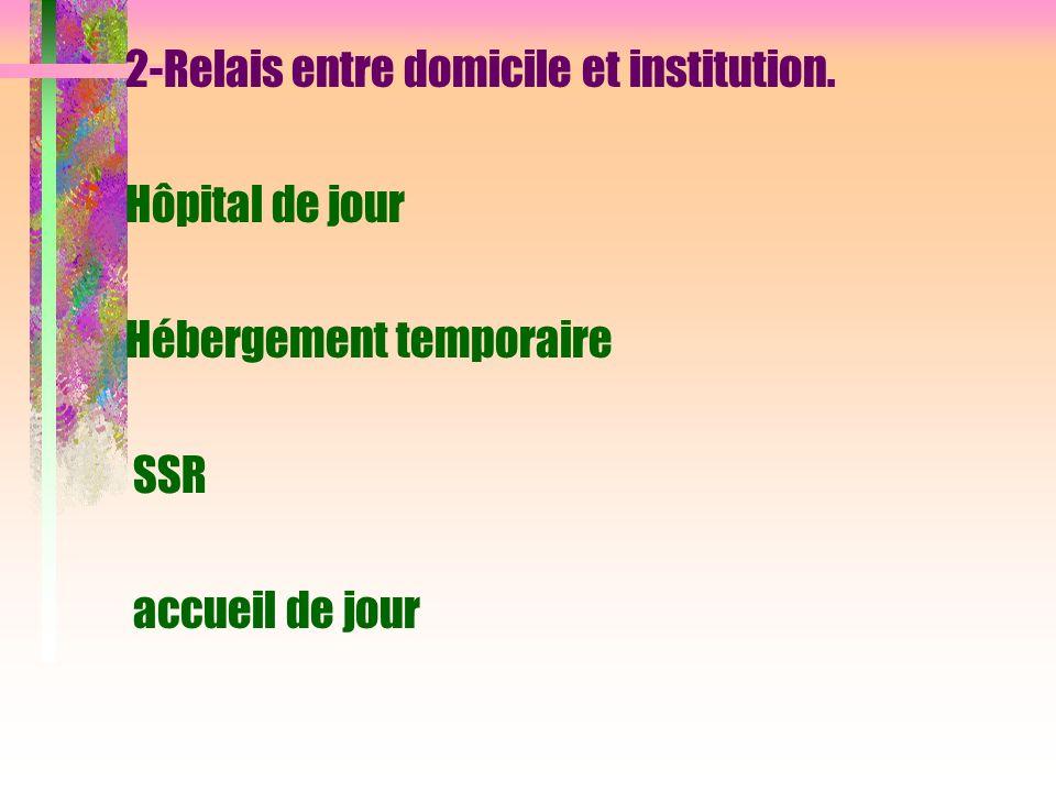 2-Relais entre domicile et institution.