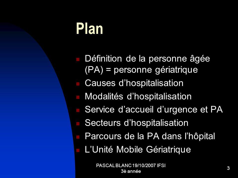 PASCAL BLANC 19/10/2007 IFSI 3è année