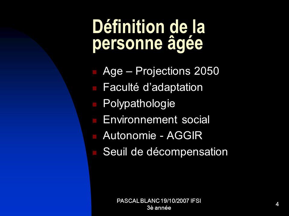 Définition de la personne âgée