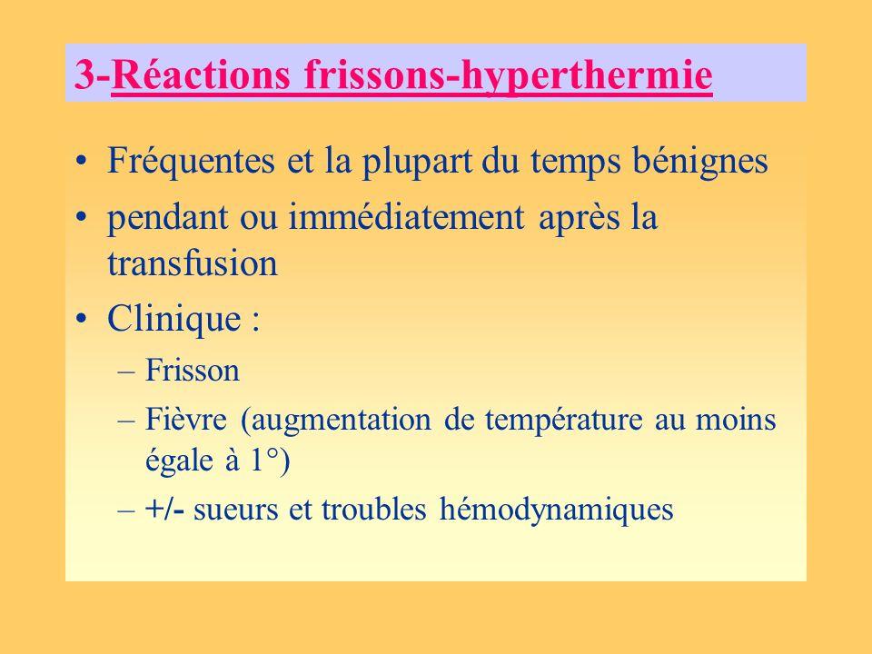 3-Réactions frissons-hyperthermie