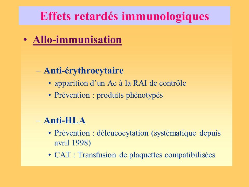 Effets retardés immunologiques