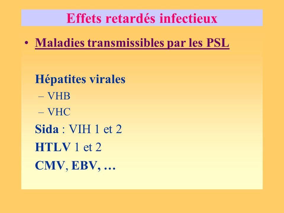 Effets retardés infectieux