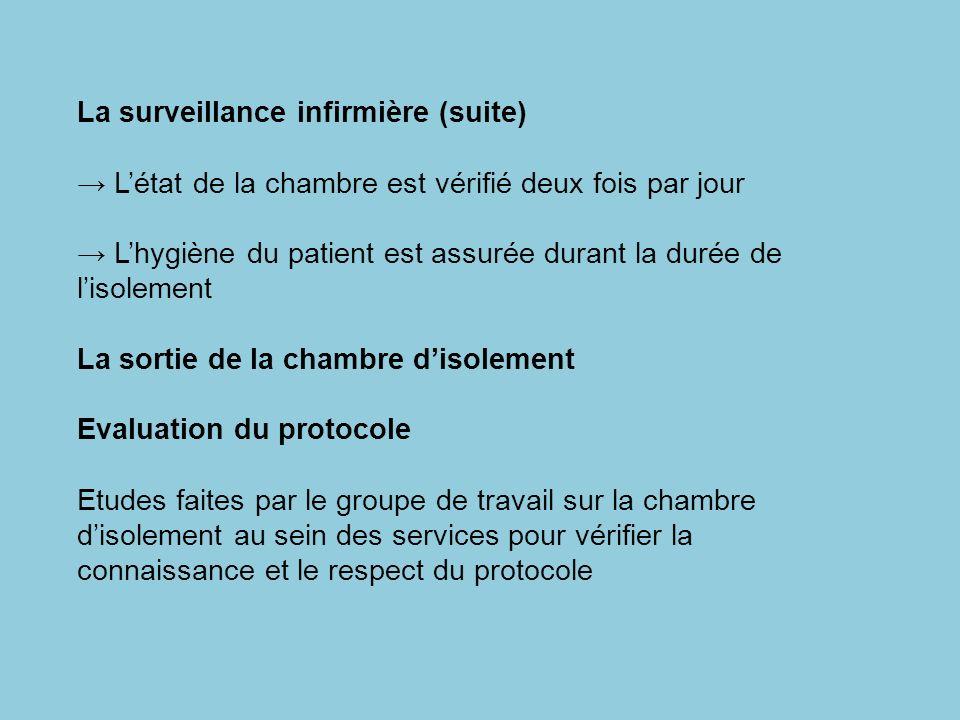 La surveillance infirmière (suite)