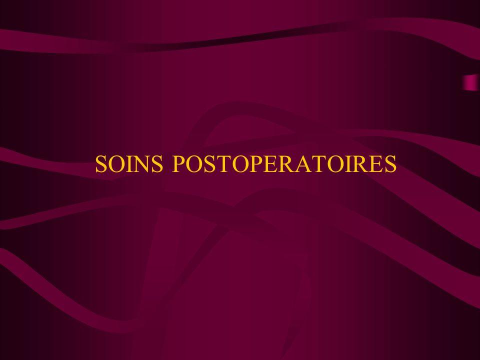 SOINS POSTOPERATOIRES