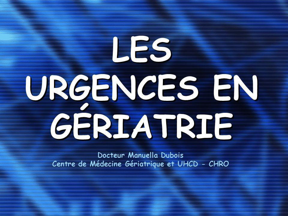 LES URGENCES EN GÉRIATRIE