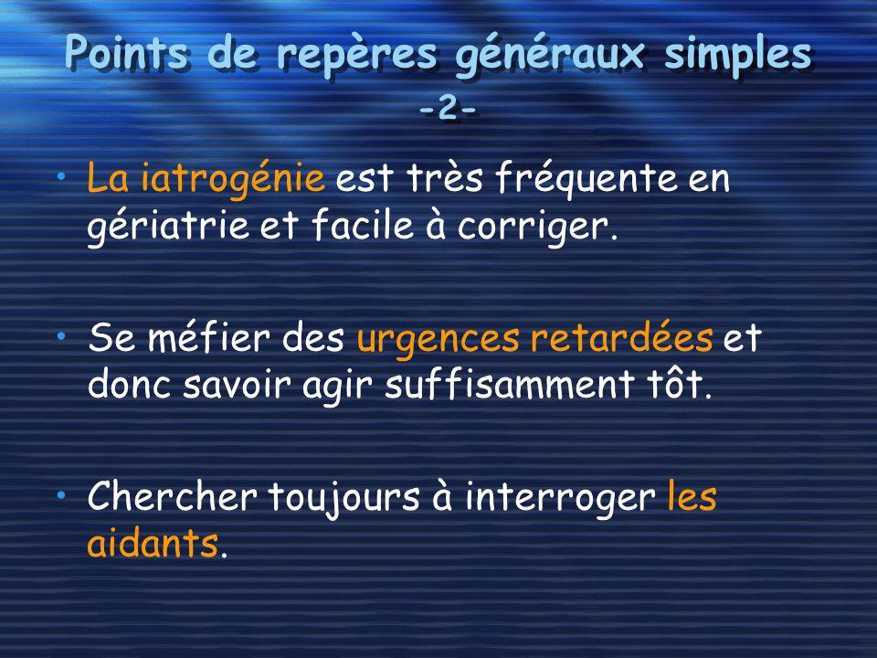 Points de repères généraux simples -2-