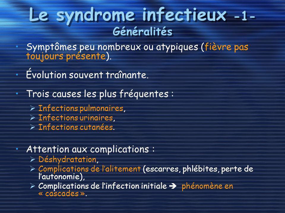 Le syndrome infectieux -1- Généralités