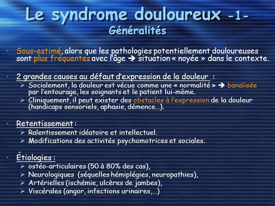 Le syndrome douloureux -1- Généralités