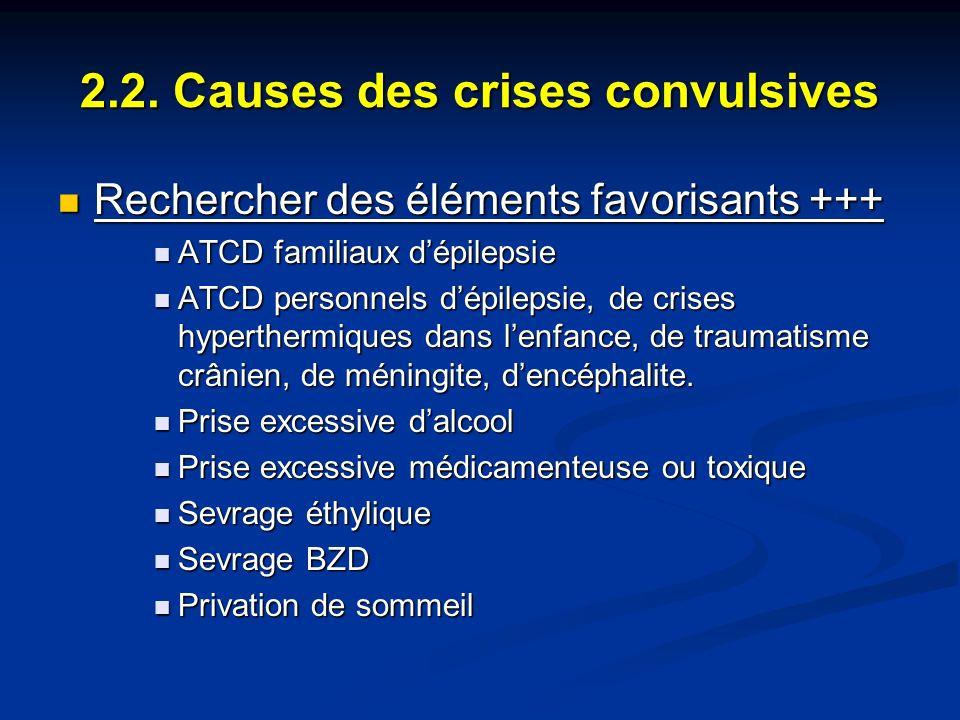 2.2. Causes des crises convulsives