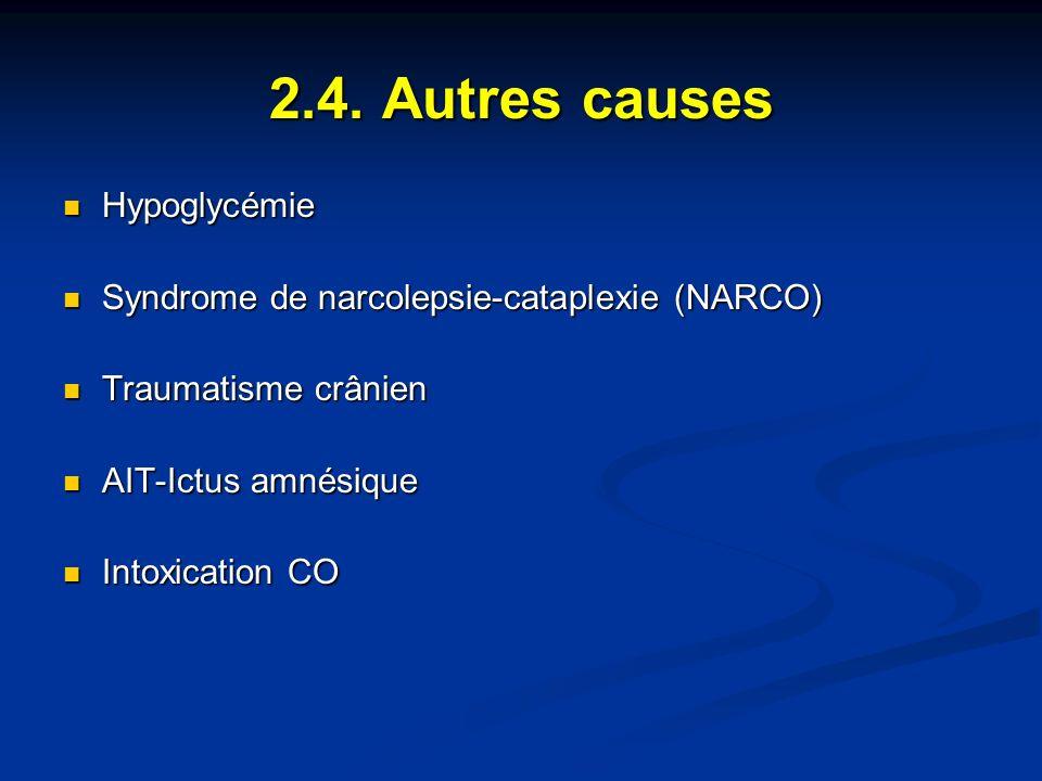 2.4. Autres causes Hypoglycémie