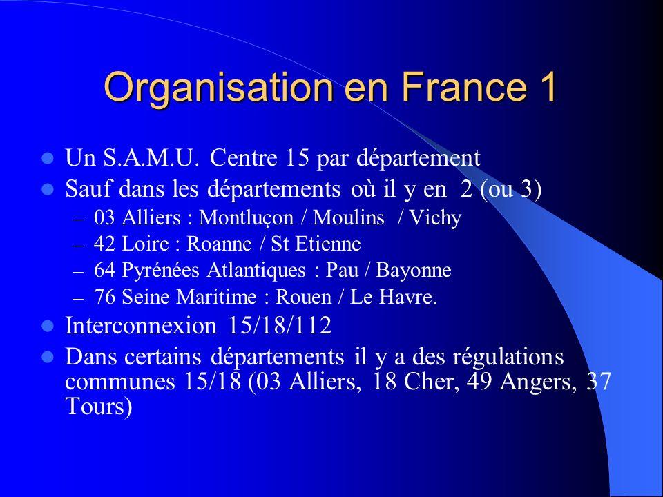 Organisation en France 1