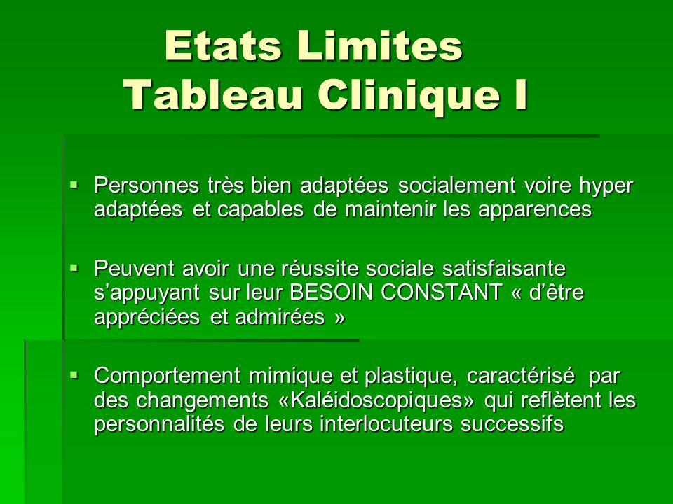 Etats Limites Tableau Clinique I