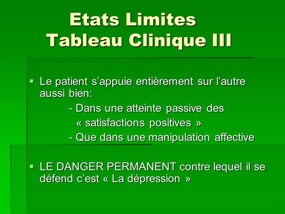 Etats Limites Tableau Clinique III