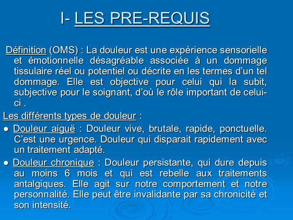 I- LES PRE-REQUIS