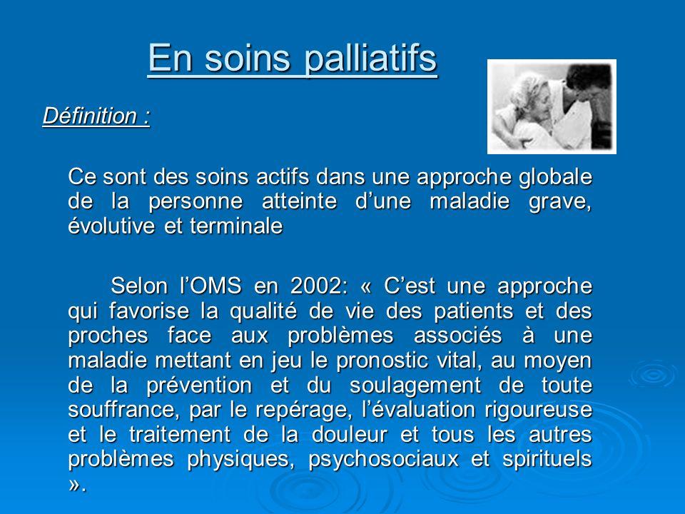 En soins palliatifs