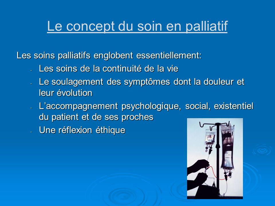 Le concept du soin en palliatif