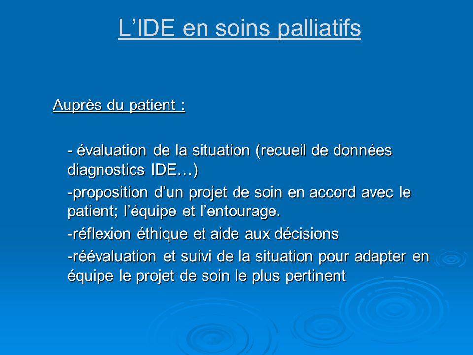 L'IDE en soins palliatifs