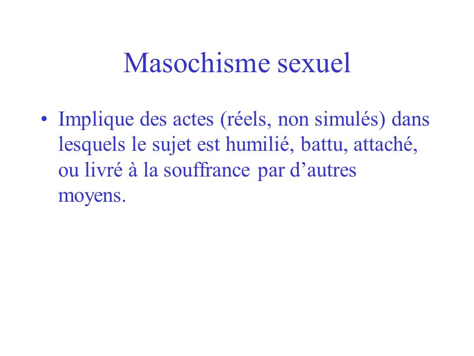 Masochisme sexuel