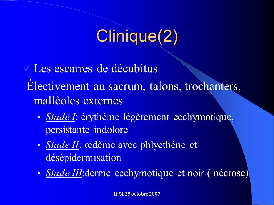 Clinique(2) Les escarres de décubitus