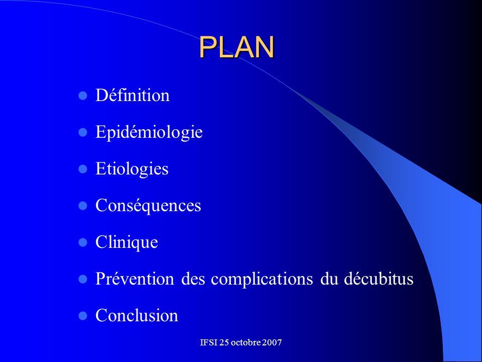 PLAN Définition Epidémiologie Etiologies Conséquences Clinique