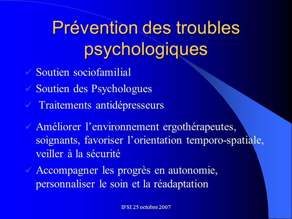 Prévention des troubles psychologiques