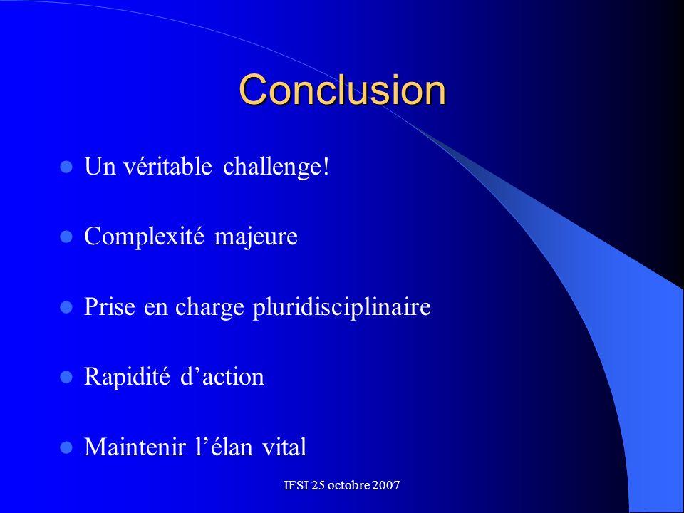 Conclusion Un véritable challenge! Complexité majeure