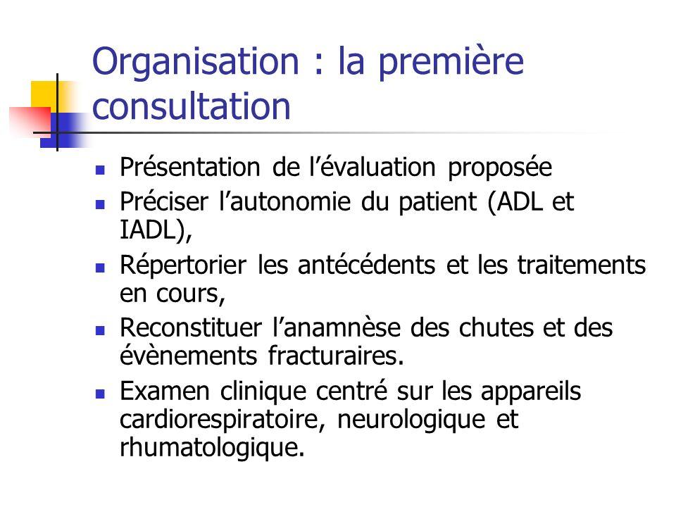 Organisation : la première consultation