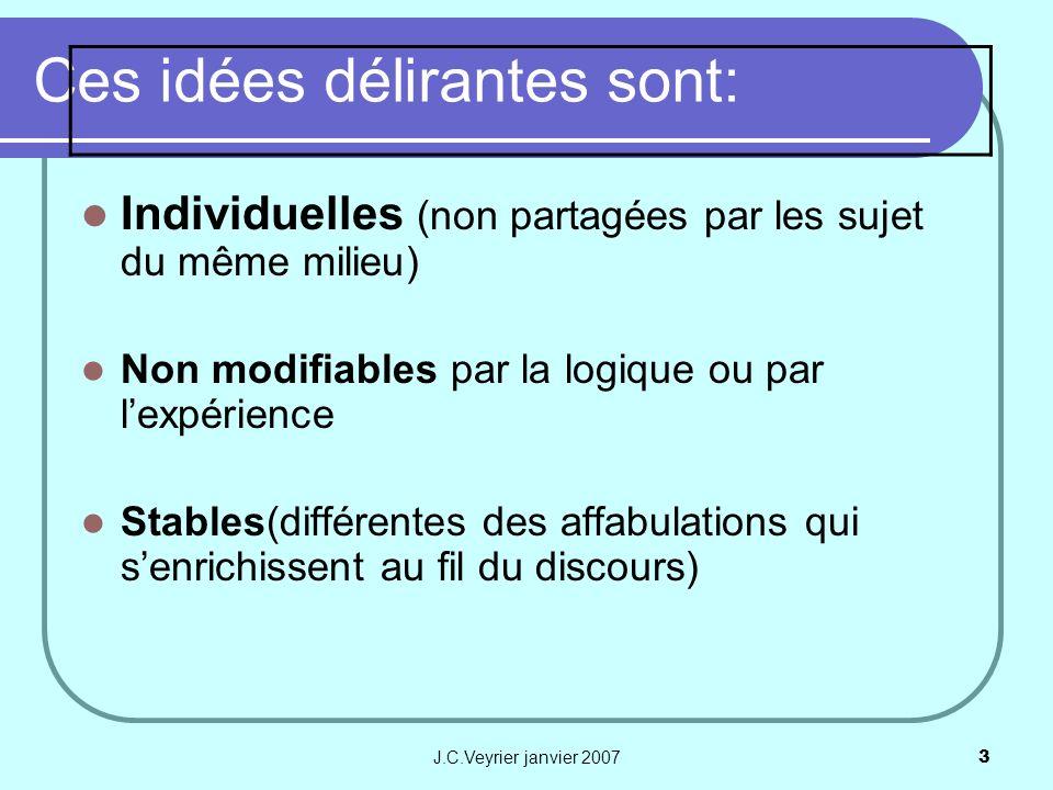 Ces idées délirantes sont: